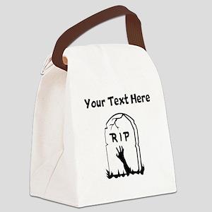 Zombie Gravestone Canvas Lunch Bag