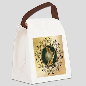 Golden harp Canvas Lunch Bag