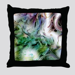 Cosmic Mountains Throw Pillow