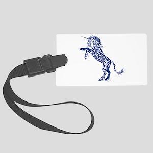 Blue Unicorn Large Luggage Tag