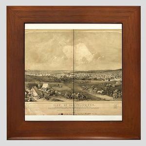 San Francisco, CA 1851 Framed Tile