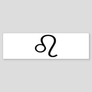 Leo Symbol Bumper Sticker