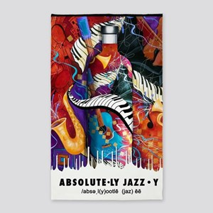 Absolute Jazz Music Art Absolutely Fun Area Rug