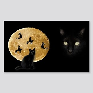Black Cat Moon Sticker