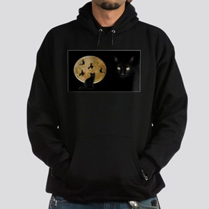 Black Cat Moon Hoodie (dark)