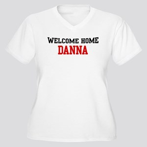 Welcome home DANNA Women's Plus Size V-Neck T-Shir