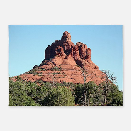 Bell Rock, Sedona, Arizona, USA 5'x7'Area Rug