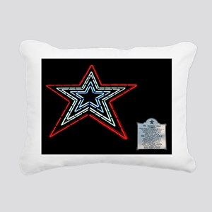 Star with Plaque Rectangular Canvas Pillow