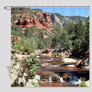 Slide Rock State Park, Arizona, USA Shower Curtain