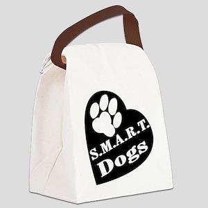 2-SmartDogsLogo Canvas Lunch Bag