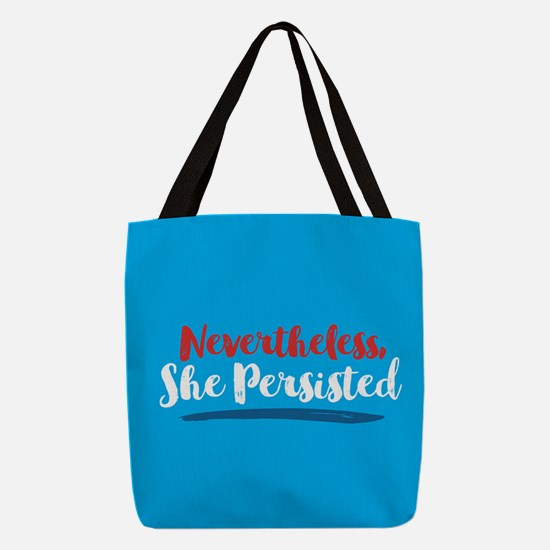 Nevertheless She Persisted Polyester Tote Bag