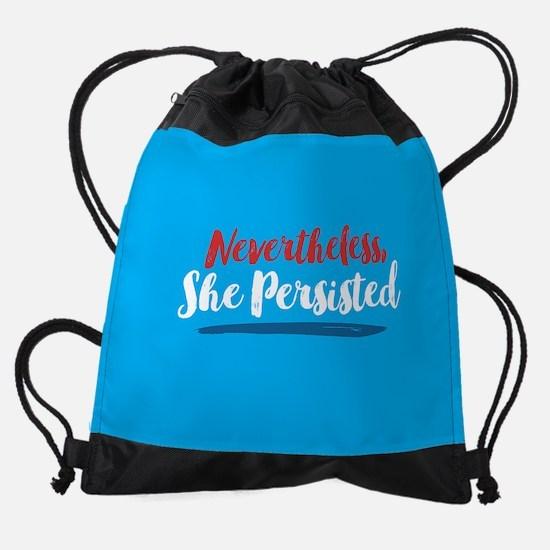 Nevertheless She Persisted Drawstring Bag