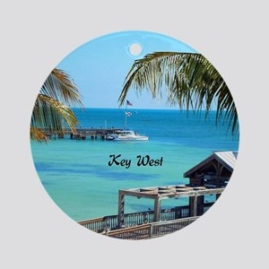 Key West, Florida - Paradise Round Ornament