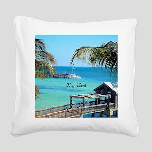 Key West, Florida - Paradise Square Canvas Pillow