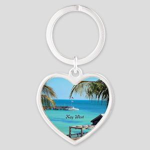 Key West, Florida - Paradise Heart Keychain