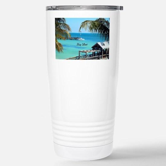 Key West, Florida - Par Stainless Steel Travel Mug