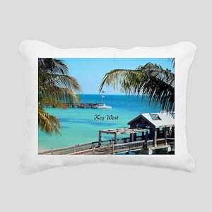 Key West, Florida - Para Rectangular Canvas Pillow