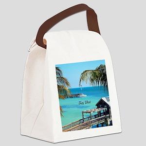 Key West, Florida - Paradise Canvas Lunch Bag