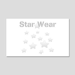 Star Wear Glossy Silver Star Pattern Wall Decal