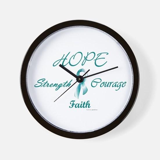 Courage, Hope, Strength, Faith 2 (OC) Wall Clock