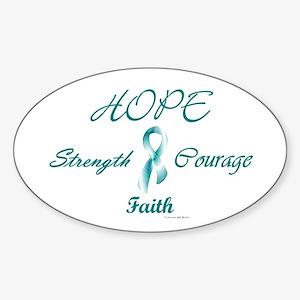 Courage, Hope, Strength, Faith 2 (OC) Sticker (Ova