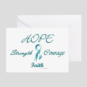 Courage, Hope, Strength, Faith 2 (OC) Greeting Car