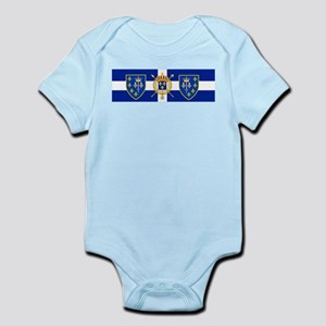 White Cross Blue Shield Body Suit