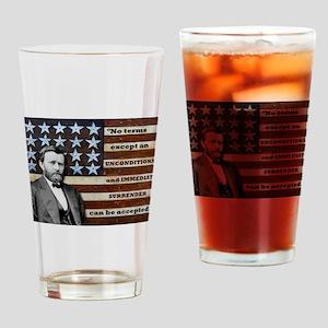 """Unconditional Surrender"" Drinking Glass"