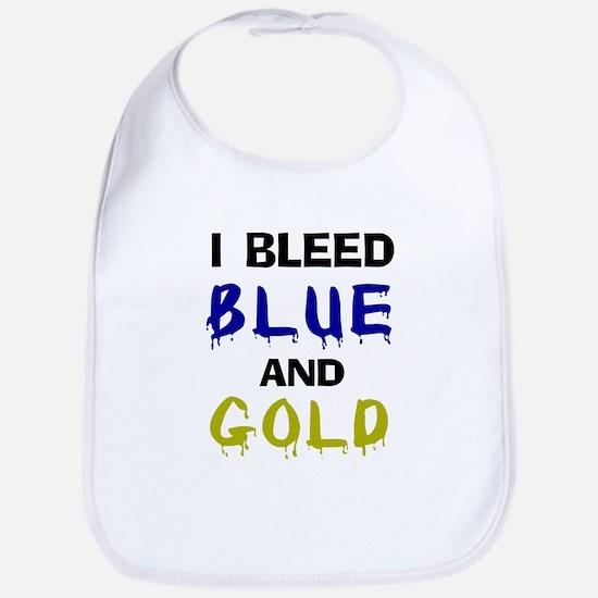 I bleed blue and gold Bib