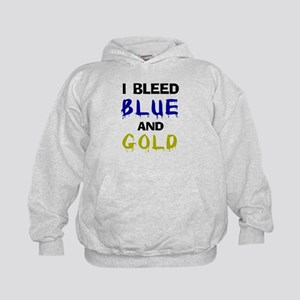 I bleed blue and gold Kids Hoodie
