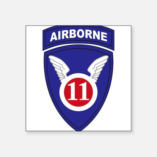 "Cute 11th airborne Square Sticker 3"" x 3"""