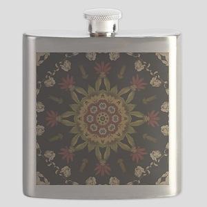 hipster vintage floral mandala Flask