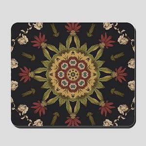 hipster vintage floral mandala Mousepad
