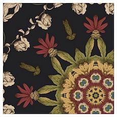 hipster vintage floral mandala Poster