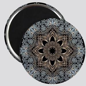 bohemian floral metallic mandala Magnet