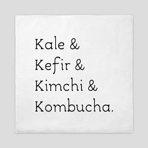 Kale Kefir Kimchi And Kombucha Queen Duvet