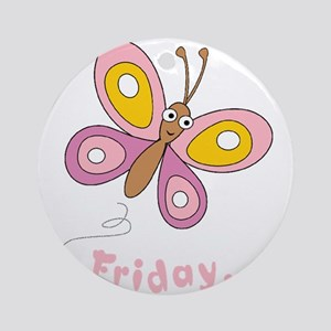Butterfly Friday Ornament (Round)