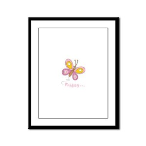 Butterfly Friday Framed Panel Print