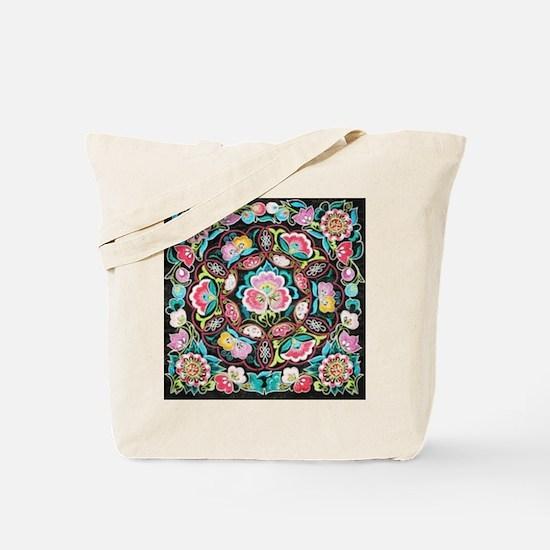 vibrant colorful flowers bohemian Tote Bag