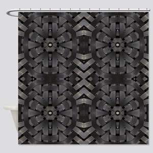 abstract pattern grunge industrial Shower Curtain