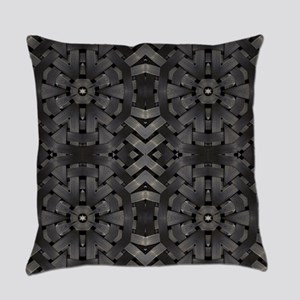 abstract pattern grunge industrial Everyday Pillow