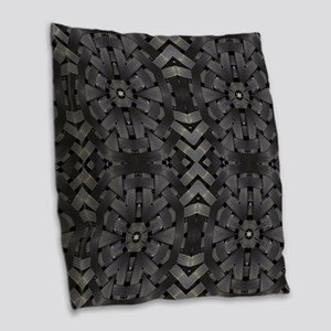 abstract pattern grunge indust Burlap Throw Pillow