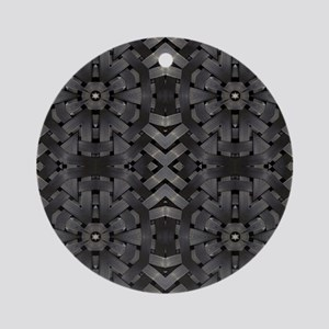 abstract pattern grunge industrial Round Ornament