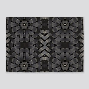 abstract pattern grunge industrial 5'x7'Area Rug
