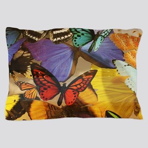 girly summer colorful butterfly Pillow Case