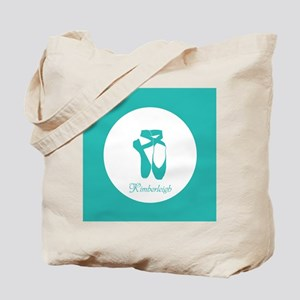 Team Pointe Ballet Aqua Monogram Tote Bag