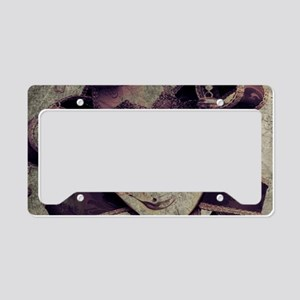 gothic grunge renaissance jok License Plate Holder