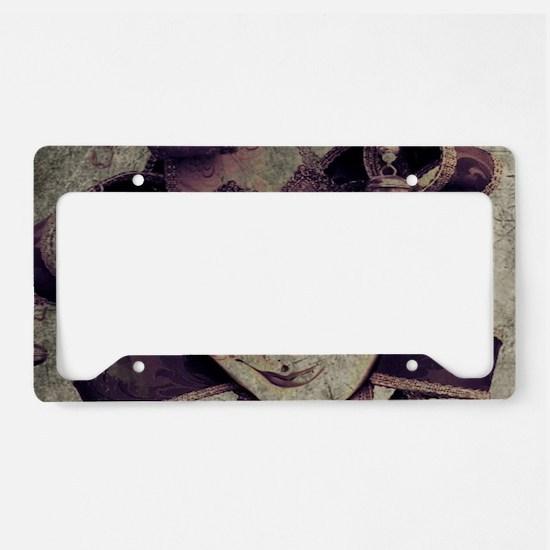 gothic grunge renaissance jok License Plate Holder