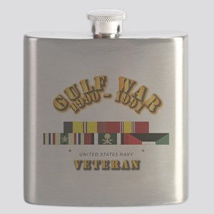 Navy - Gulf War 1990 - 1991 w Svc Ribbons - Flask