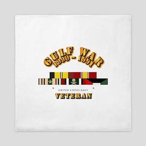 Navy - Gulf War 1990 - 1991 w Svc Ribb Queen Duvet